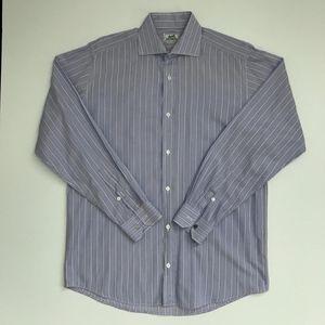 Hermès Mens Lavender Stripe Shirt